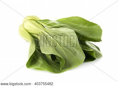 Whole Pak Choi  In Front Of White Background