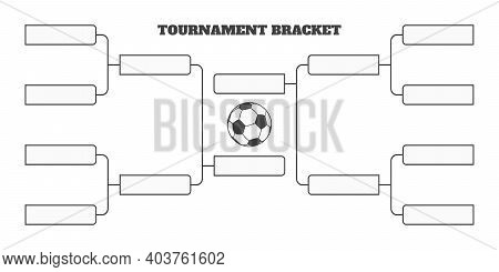 8 Soccer Team Tournament Bracket Championship Template Flat Style Design Vector Illustration Isolate