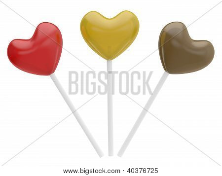 Candy Valentine's Hearts. 3D Model