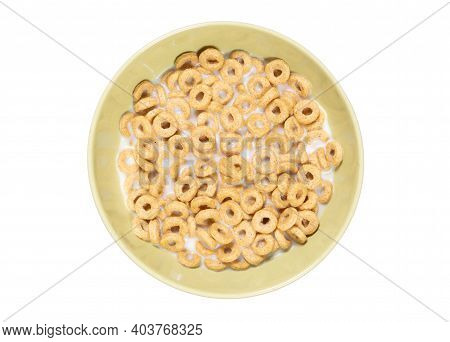 Cereal Loops For Breakfast In A Bowl