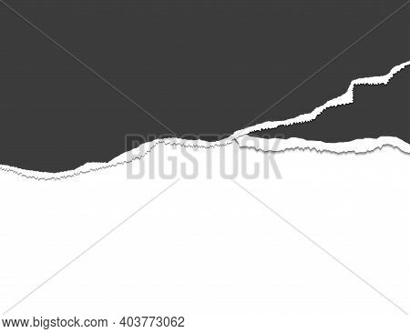 Ripped Paper. Torn, Ripped Pieces. Vector Illustration.