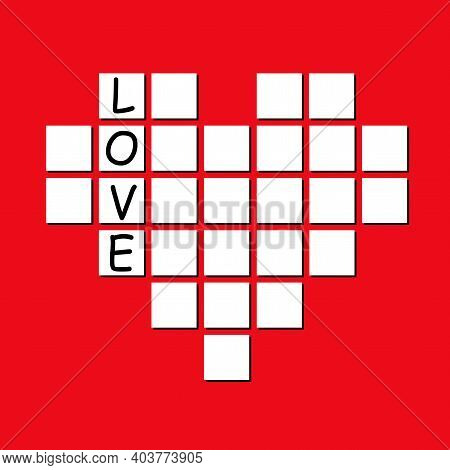 Crossword From The Heart. Unravel The Love.