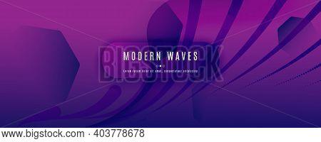 Fluid Background. 3d Flow Shape Landing Page. Wave Dynamic Brochure. Color Digital Illustration. Pur