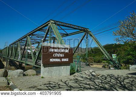 World War Ii Memorial Tha Pai Memorial Bridge In Pai, Mae Hong Son,thailand. (translation:tha Pai Me
