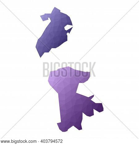 Macao Map. Geometric Style Country Outline. Adorable Violet Vector Illustration.