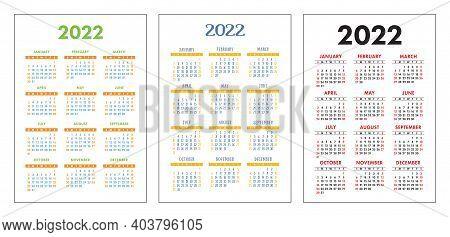 Calendar 2022 June July August.Calendar 2022 Year Vector Photo Free Trial Bigstock
