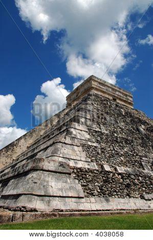 Abstract View Of Ancient Mayan Pyramid