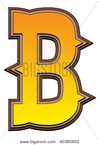 Western Alphabet Letter - B