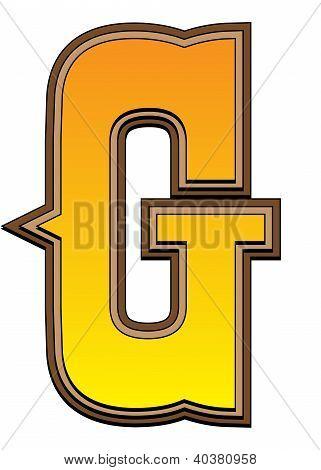 Western Alphabet Letter - G
