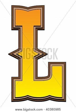 Western Alphabet Letter - L