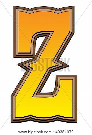 Western Alphabet Letter - Z