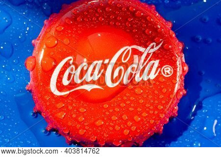 Tyumen, Russia-june 20, 2020: Coca Cola Drinks Are Produced And Manufactured By The Coca-cola Compan