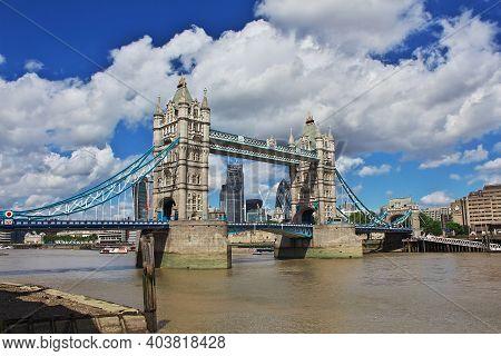 London, Uk - 28 Jul 2013: Tower Bridge In London City, England, Uk