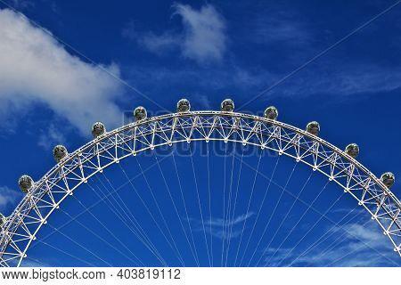 London, Uk - 28 Jul 2013: London Eye, In London City, England, Uk