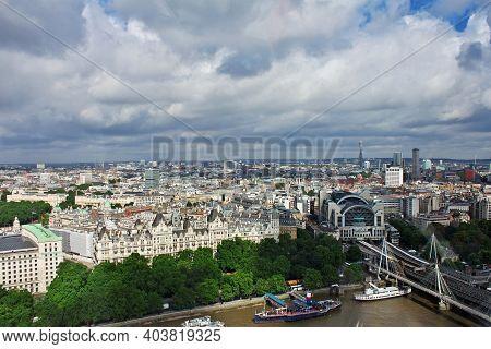 London, Uk - 29 Jul 2013: The View On London City, England, Uk