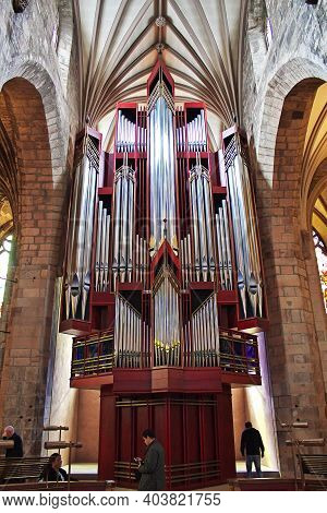 Edinburgh, Scotland, Uk - 6 Aug 2013: The Church In Edinburgh, Scotland
