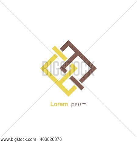Concept Association, Alliance, Unity, Teamwork. Abstract Knot Vector Logo Design Template.