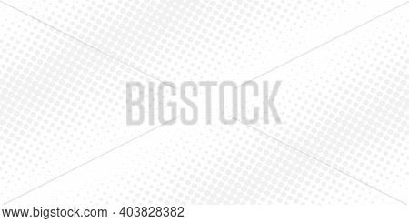 White Background With Gray Dots. Halftone Patterns. Retro Pattern. Vector Illustration
