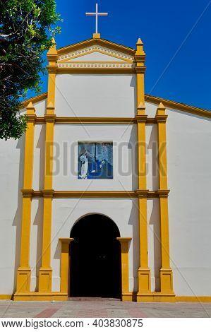 Leon, Nicaragua, September 2014: Church Of San Francisco Facade In Leon, Nicaragua