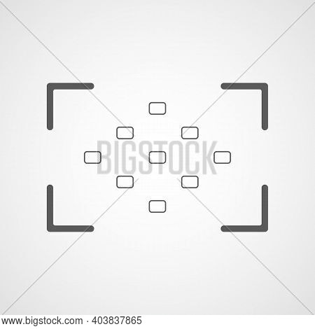 Camera Viewfinder Icon. Vector Illustration. Focusing Screen Of The Camera.