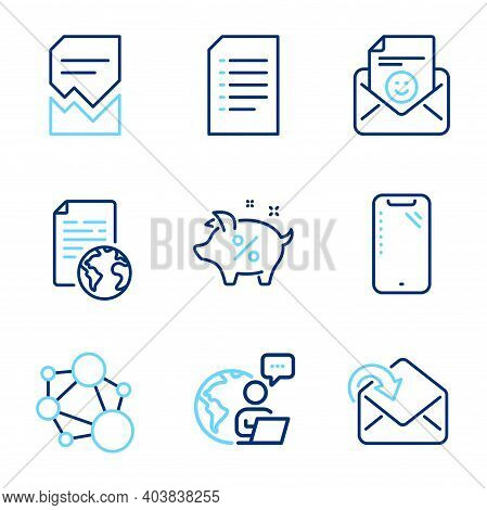 Technology Icons Set. Included Icon As Corrupted File, Loan Percent, Internet Document Signs. Receiv