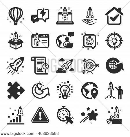Startup Icons. Launch Project, Business Report, Target Icons. Strategy, Development Plan, Startup Sp