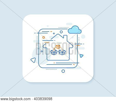 Parcel Shipping Line Icon. Abstract Vector Button. Delivery Box Sign. Cargo Package Symbol. Parcel S