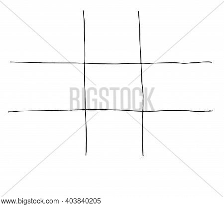 Graph Paper With A Geometric Square Grid.texture Of Lines With A Geometric Square Grid. Hand-drawn S