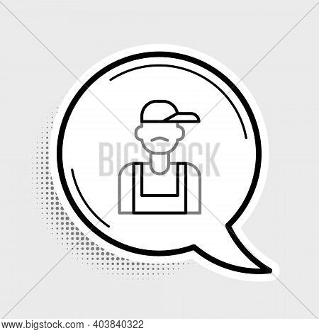 Line Plumber Icon Isolated On Grey Background. Colorful Outline Concept. Vector