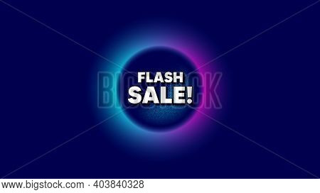 Flash Sale. Abstract Neon Background With Dotwork Shape. Special Offer Price Sign. Advertising Disco