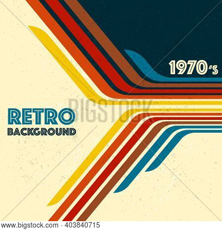 Abstract Lines Background With Different Colors For Retro Background. Old Fashion Wallpaper With Geo