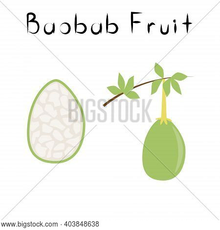 Baobab Fruit. Healthy Detox Natural Product. Organik Dietary Supplement Fruit. Superfood For Homeopa