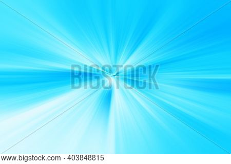 Abstract Radial Zoom Blur Surface Of Soft Blue And White Tones. Abstract Soft Blue Background With R