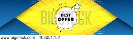 Best Offer. Background With Offer Speech Bubble. Special Price Sale Sign. Advertising Discounts Symb
