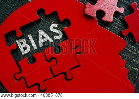 Bias Word In The Brain From Puzzle.