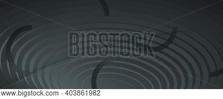 Abstract Dark Background. Wave Lines Ans Geometric Shapes.