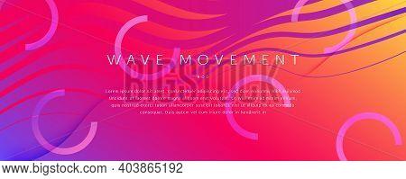 Bright Fluid Shape. Flow Abstract Concept. Curve Gradient Lines. Digital Fluid Shape. Memphis Textur
