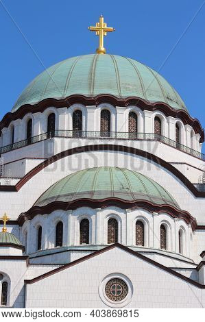 Cathedral Of St Sava In Belgrade, Serbia. Orthodox Church.