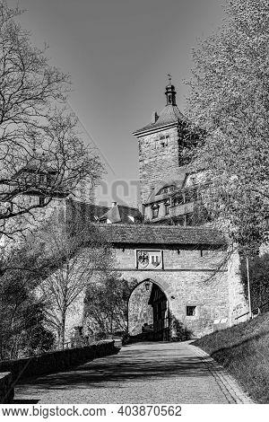 Rothenburg Ob Der Tauber, Kobolzell Gate, Bavaria, Germany
