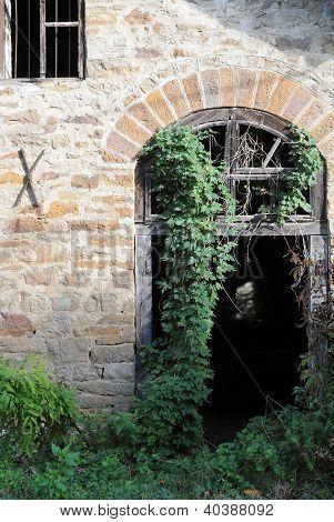 Abandoned Mill Entrance