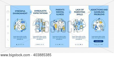 Parental Emotional Abuse Onboarding Vector Template. Stressful Environment. Unrealistic Expectation.