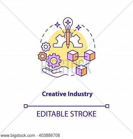 Creative Industry Concept Icon. Game Design Industry Benefits. Exploitation Of Knowledge. Perspectiv