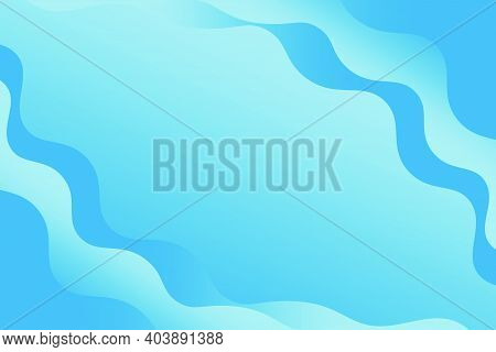 Abstract Blue Wavy Background With Wavy Shapes And Stylish Design