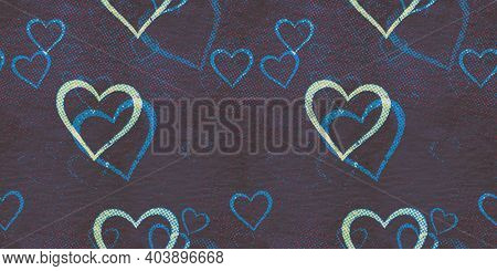 abstract seamless hearts raster background pattern
