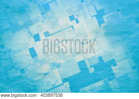 abstract blue background, old grunge paper
