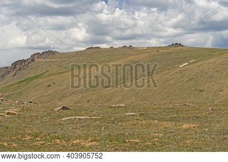 High Above The Treeline On Alpine Tundra In Rocky Mountain National Park In Colorado