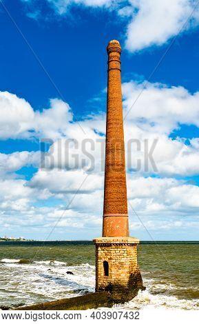 Ventilation Column At Rambla Francia In Montevideo, Uruguay