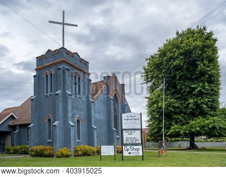 Trafalgar Australia - Circa December, 2020: St. Marys Anglican Church Building Exterior
