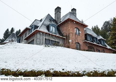 Neuquen, Argentina - September 8, 2015: An Important French Style Residence, A Small Castle Called