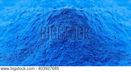 Cobalt Oxide, Blue Pigment, Used In The Ceramic Industry As An Additive To Create Blue Enamels In Th